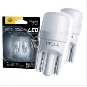 Lâmpada Hella 5000k 12V 1W 6,5K LED super Branca original