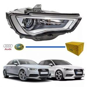 Farol Audi A3 2012 2013 2014 2015 Led Original Hella(Direito)