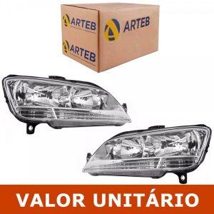 Farol Fiat Idea 2005 2006 07 08 09 2010 Duplo Original Arteb(Esquerdo)